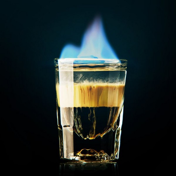 Flaming asshole drink